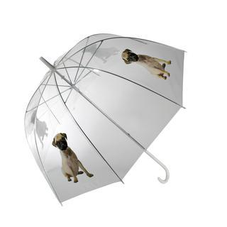 Dámsky dáždnik priehľadný Mopsík