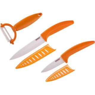 Keramické nože a škrabka na zemiaky Gourmet Ceramia Arancia, BANQUET