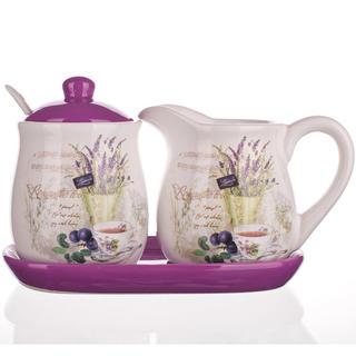 Keramická mliečenka a cukornička Lavender, BANQUET
