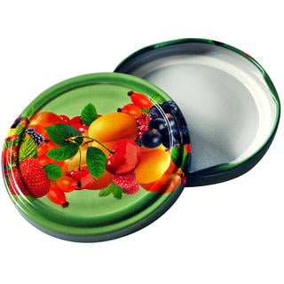 Šróbovacie viečka na zaváracie poháre 10 ks ovocie