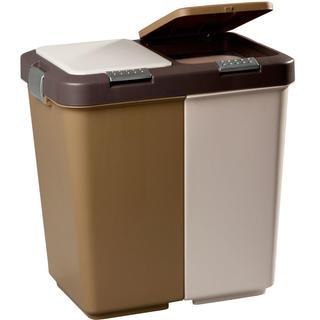 Dvojdielny odpadkový kôš