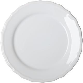 Keramický plytký tanier s plastickým zdobením