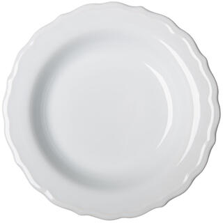 Keramický hlboký tanier s plastickým zdobením