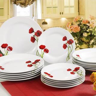 Porcelánová sada tanierov POPPY 18 dielov, BANQUET
