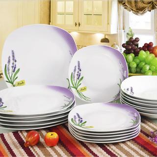 Banquet porcelánová sada tanierov LEVANDUĽA 18 ks