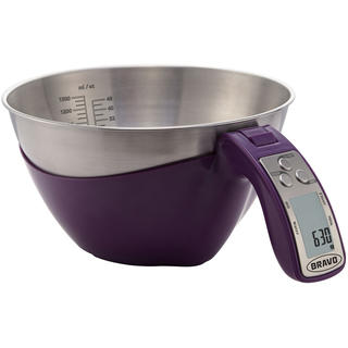 Kuchynská váha s odmerkou B-5094 fialová
