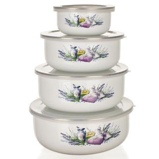 Smaltované misky s viečkami Lavender, BANQUET