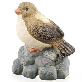 Záhradná dekorácia - vták na kameni