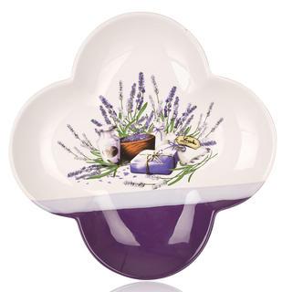 Servírovacia misa Lavender štvorlístok 26 cm, BANQUET