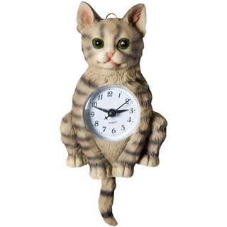 Keramické nástenné hodiny Mačka