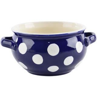 Keramická miska s uškami KRAJÁČ 700 ml modrá
