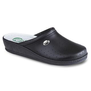 Dámske papuče s plnou špičkou Comfort Step čierne