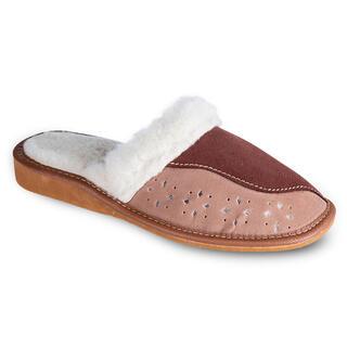 Dámska domáca obuv s koženým zvrškom