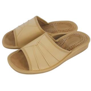 Dámske domáce papuče béžové