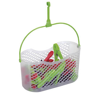 Plastový košík FUN + 30 štipcov NOVA