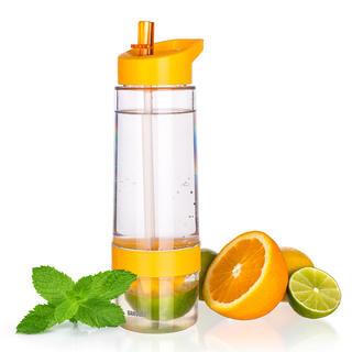 Športové fľaša SQUEZZE s lisom na citrusy, BANQUET oranžová