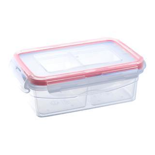 Plastová dóza s tesnením s vyberateľnými priehradkami 0,4 l