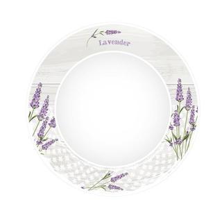 Keramický tanier na polievku Levanduľa