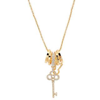 Náhrdelník s príveskom v tvare kľúča zlatý