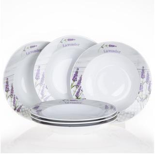 Keramická sada polievkových tanierov Levanduľa, 6 kusov
