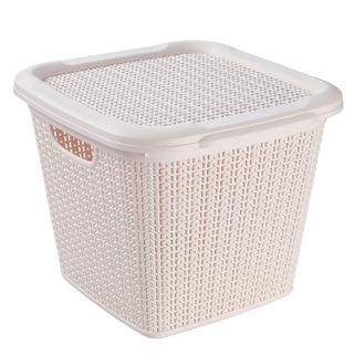 Ratanový box s vekom Brilanz krémový