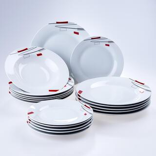 Banquet porcelánová sada tanierov GEOMETRIC 18 ks