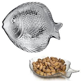 Servírovací sklenený tanier RYBA 19 cm