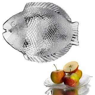 Sklenený servírovací tanier RYBA 26,5 cm