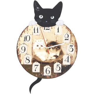 Nástenné hodiny s mačkou