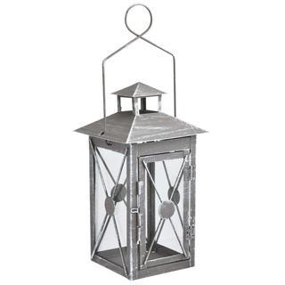 Kovový záhradný lampáš