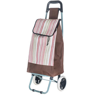 Nákupná taška na kolieskach s prúžkami