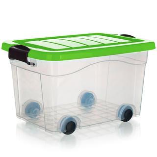 Box úložný na kolieskach PYRAMIDA, zelený