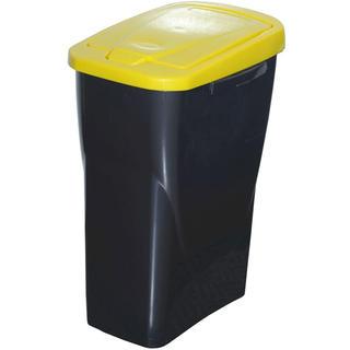 Kôš na triedený odpad žlté veko 25 l