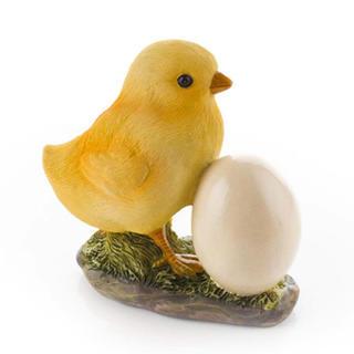 Záhradná dekorácia - kuriatko s vajíčkom