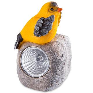 Solárna záhradná dekorácia - vtáčik