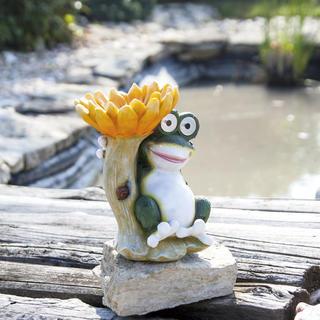 Solárna dekorácia Kŕmidlo žaba