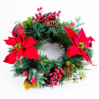 Umelý vianočný veniec JABĹČKO 40 cm