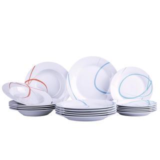 Banquet porcelánová sada tanierov PASTEL 18 ks