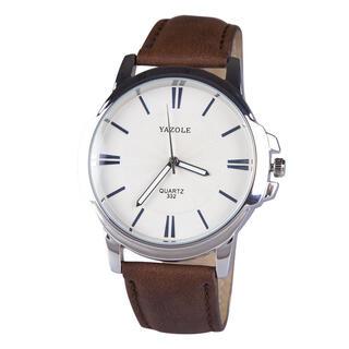 Pánske hodinky s koženým remienkom