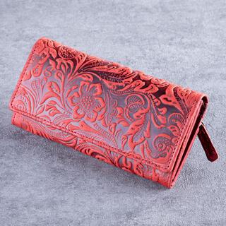 Dámska kožená peňaženka červená