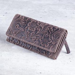 Dámska kožená peňaženka hnedá