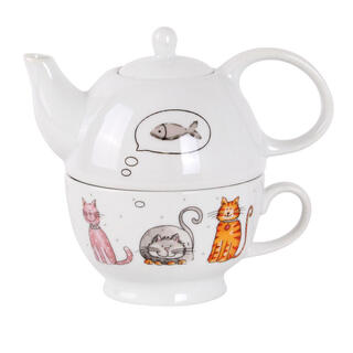 Sada na čaj MAČKY Tea For One