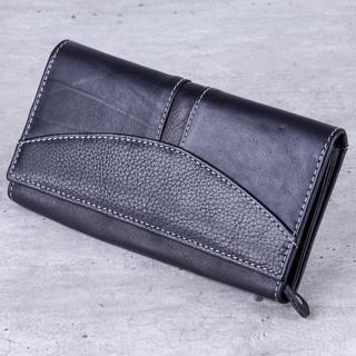 Dámska kožená peňaženka čierna