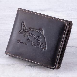 Pánska kožená peňaženka KAPR tmavohnedá