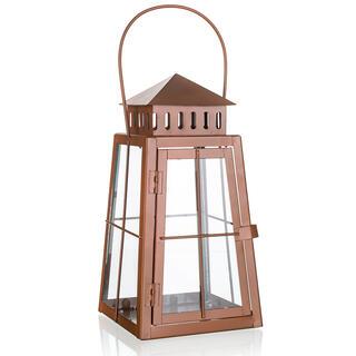 Plechový lampáš hnedá 29 cm