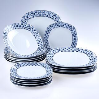 Banquet Porcelánová sada tanierov square LOUNGE 18 ks