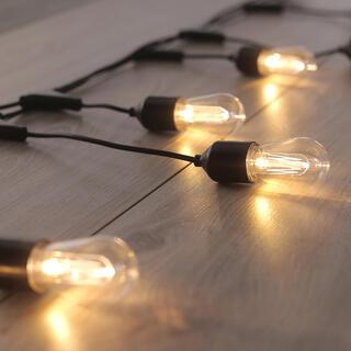 Svetelná reťaz s 10 LED podlhovastými žiarovkami 8 m