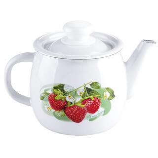 Smaltovaná čajová kanvica s dekórom ovocia 1 l