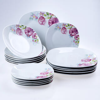 Porcelánová sada tanierov square DOLORES 18 ks