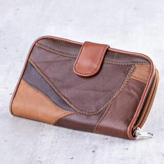 Dámska peňaženka hnedý patchwork